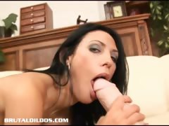 tight bodied marty stretched by a brutal dildo