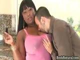 Hot big boobed dark haired black slut part3